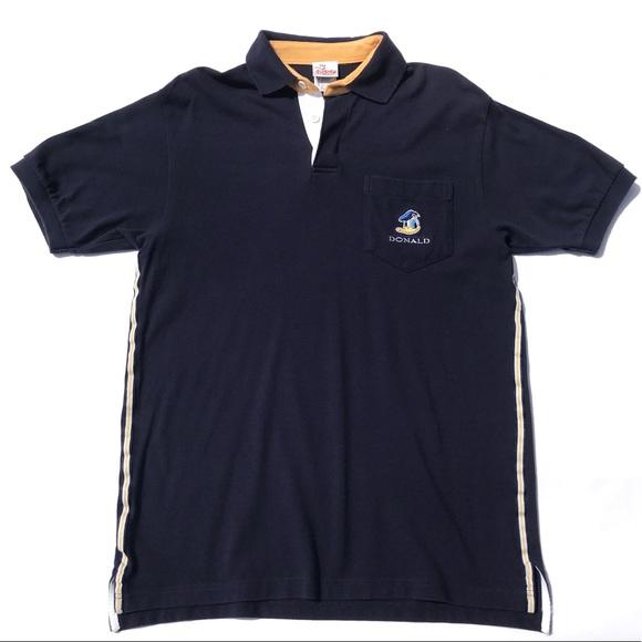 Disney Shirts Vintage Donald Duck Embroidered Polo Shirt Poshmark